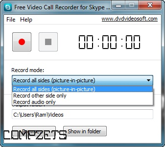 FOR TÉLÉCHARGER FREE RECORDER VIDEO 1.0.2.115 CALL SKYPE